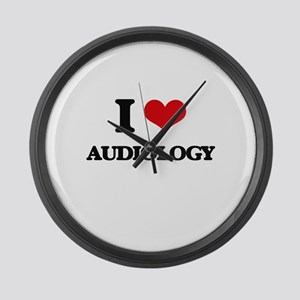 I Love Audiology Large Wall Clock