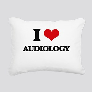 I Love Audiology Rectangular Canvas Pillow