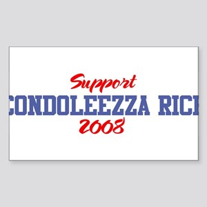 Support CONDOLEEZZA RICE 2008 Sticker (Rectangular