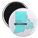 Magnet (10 pack) True Blue Rhode Island LIBERAL