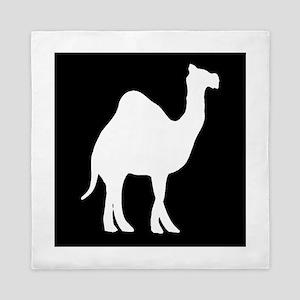 Camel Silhouette Queen Duvet