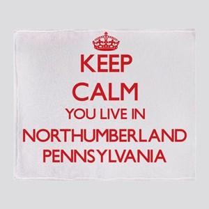 Keep calm you live in Northumberland Throw Blanket