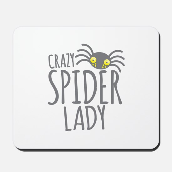 Crazy Spider lady Mousepad