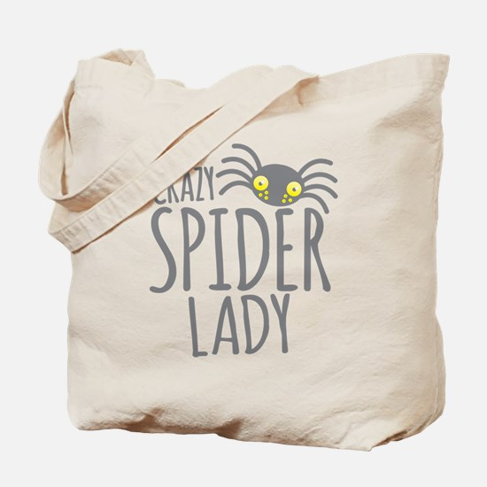 Crazy Spider lady Tote Bag