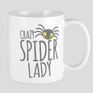 Crazy Spider lady Mugs