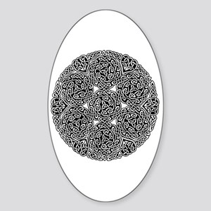 Knotwork Circle Celtic Oval Sticker