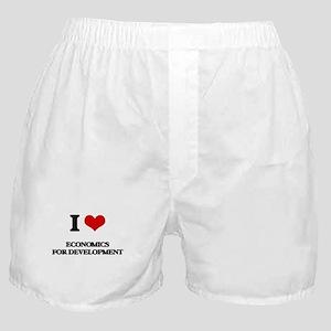 I Love Economics For Development Boxer Shorts