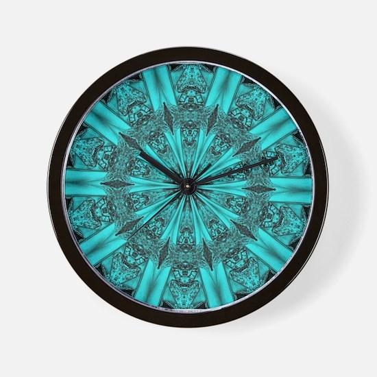 Torquise Crystal Wheel Wall Clock