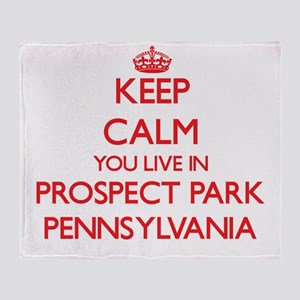 Keep calm you live in Prospect Park Throw Blanket
