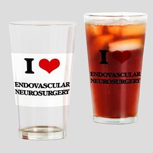 I Love Endovascular Neurosurgery Drinking Glass