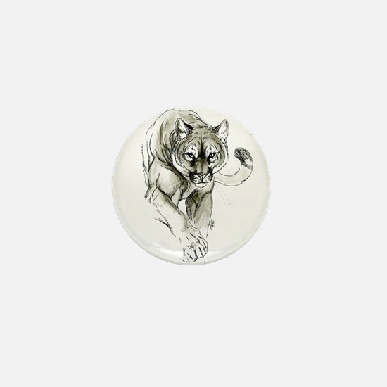 Cute Cougar Mini Button
