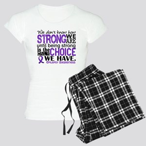 Epilepsy HowStrongWeAre Women's Light Pajamas
