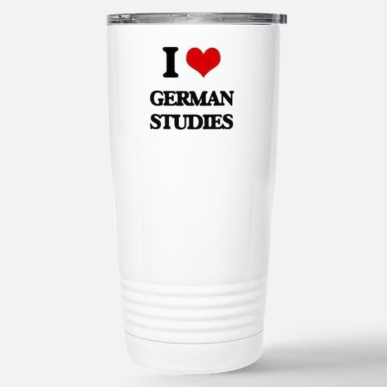 I Love German Studies Stainless Steel Travel Mug