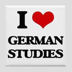 I Love German Studies Tile Coaster