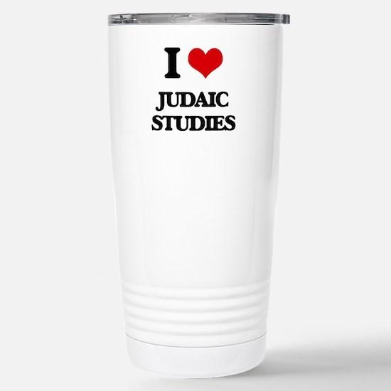 I Love Judaic Studies Stainless Steel Travel Mug