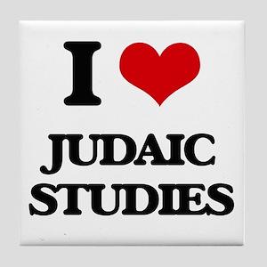I Love Judaic Studies Tile Coaster