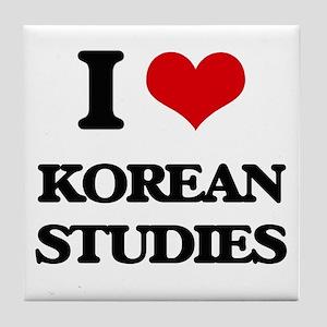 I Love Korean Studies Tile Coaster