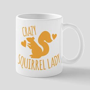 Crazy Squirrel lady Mugs