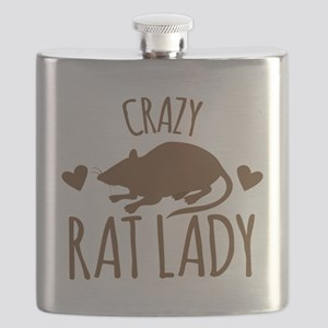 Crazy Rat Lady Flask