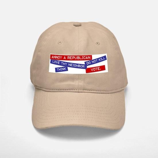 """Annoy a Republican"" Baseball Baseball Cap"