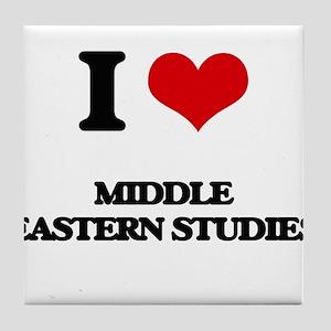 I Love Middle Eastern Studies Tile Coaster