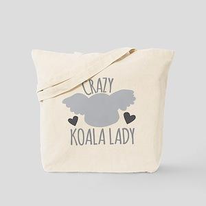 Crazy Koala Lady Tote Bag