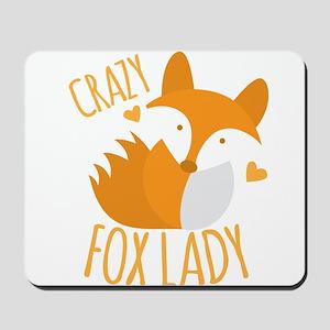 Crazy Fox Lady Mousepad