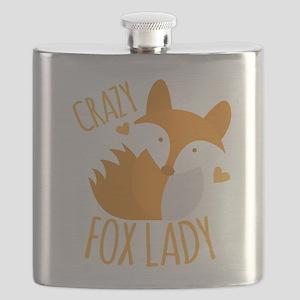Crazy Fox Lady Flask