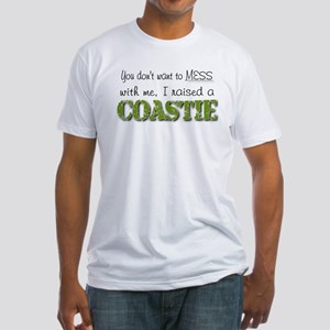 I raised a Coastie (green) Fitted T-Shirt
