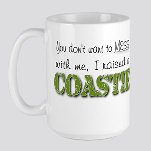 I raised a Coastie (green) Large Mug