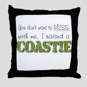 I raised a Coastie (green) Throw Pillow