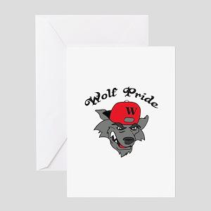 WOLF PRIDE Greeting Cards
