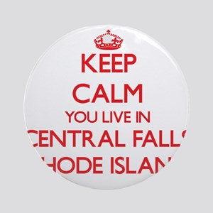 Keep calm you live in Central Fal Ornament (Round)