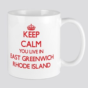 Keep calm you live in East Greenwich Rhode Is Mugs