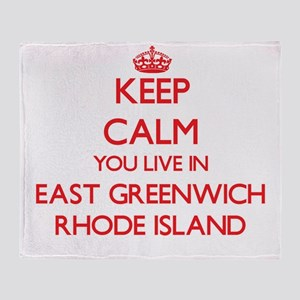 Keep calm you live in East Greenwich Throw Blanket