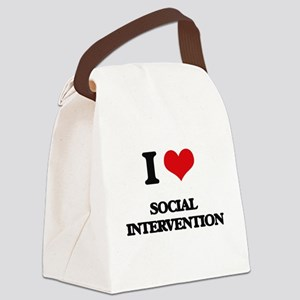 I Love Social Intervention Canvas Lunch Bag