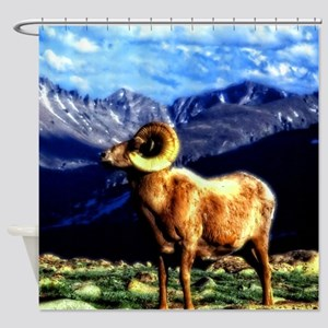 Full Curl Bighorn Shower Curtain