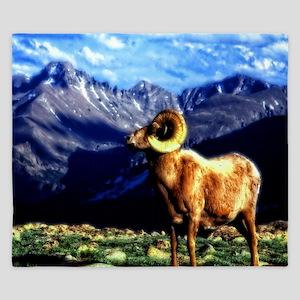Full Curl Bighorn King Duvet