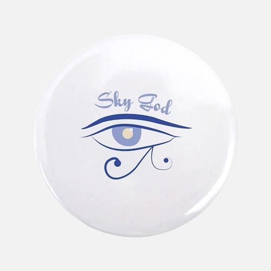 """Eye_Of_Horus_Sky_God 3.5"""" Button"""