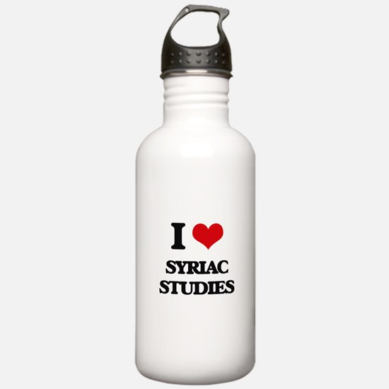 I Love Syriac Studies Water Bottle