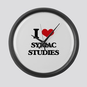 I Love Syriac Studies Large Wall Clock