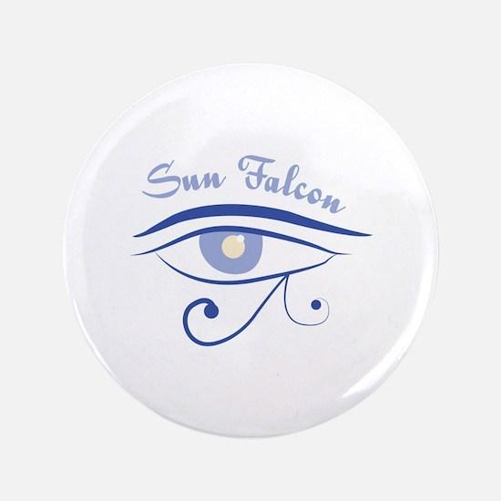 """Eye_Of_Horus_Sun_Falcon 3.5"""" Button"""