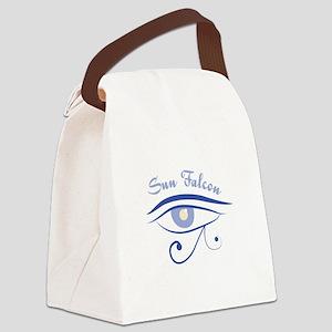 Eye_Of_Horus_Sun_Falcon Canvas Lunch Bag