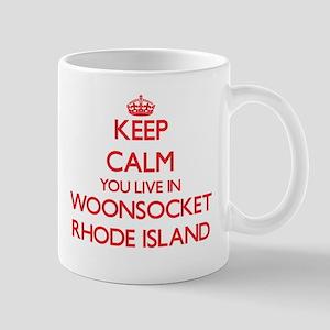 Keep calm you live in Woonsocket Rhode Island Mugs