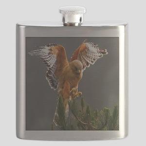 Red Shouldered Hawk Flask
