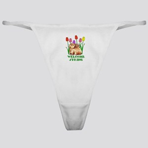 BUNNY WELCOME SPRING Classic Thong