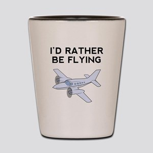 Id Rather Be Flying Shot Glass