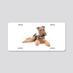 Welsh Terrier Portrait Aluminum License Plate