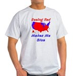 Seeing Red Makes Me Blue Ash Grey T-Shirt