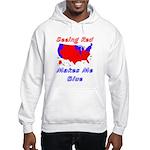 Seeing Red Makes Me Blue Hooded Sweatshirt
